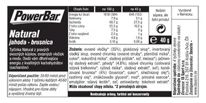 PowerBar Natural Energy Cereal tyčinka 40g Jahoda/Brusnica