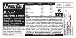 PowerBar Natural Energy Cereal tyčinka 40g Sladko slaná s pracli