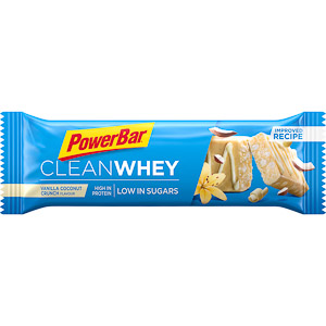 PowerBar Clean Whey Protein. tyčinka 45g Vanilka/Kokos. chrumky