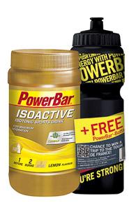 PowerBar IsoActive - ionťák 600g Citrón + fľaša zadarmo