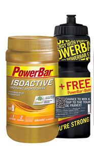PowerBar IsoActive - športdrink 600g Pomaranč + fľaša zadarmo
