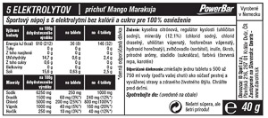 PowerBar 5 Elektrolytov 10 tabliet - Mango/Marakuja