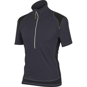 5e5509b55793 Karpos Rock outdoor tričko so zipsom tmavosivé. Pre absolútny zážitok  prosím použite prehliadač s javascriptom