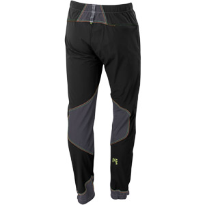 Karpos ROCK nohavice tmavosivé/čierne/zelené fluo