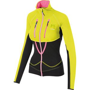 Karpos ALAGNA LITE dámska bunda čierna/žltá/ružová fluo