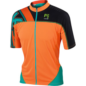 Karpos TECK MTB dres fluo oranžový