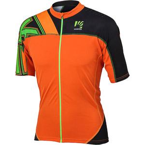 Karpos TECK voľný MTB dres oranžový/tmavosivý