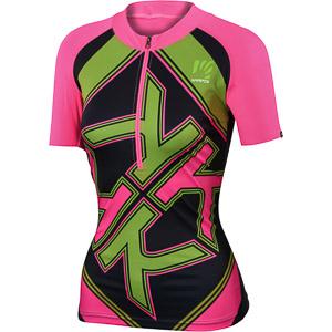 Karpos RAPID dámsky dres ružový/sivý/zelený