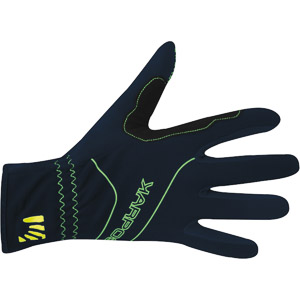 Karpos ALAGNA rukavice tmavomodré/zelené fluo