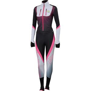 Karpos RACE kombinéza dámska biela/čierna/fluo ružová