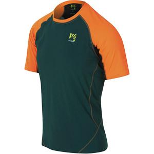 Karpos LAVAREDO tričko modrozelené/oranžové fluo