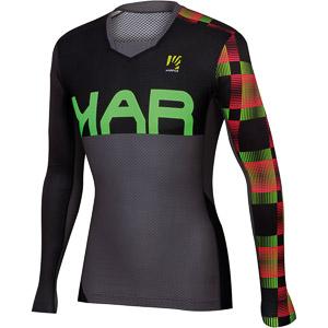 Karpos JUMP dres s dlhým rukávom tmavosivý/čierny/zelený fluo
