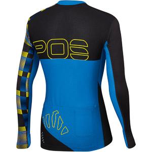 Karpos JUMP dres s dlhým rukávom modrý/čierny/žltý fluo