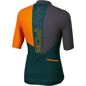 Karpos VERVE dres modrozelený/oranžový fluo/tmavosivý