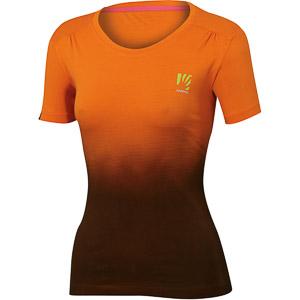Karpos LASTE WALL dámske tričko oranžové/tmavosivé