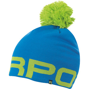 Karpos LARIN čiapka s brnbolcom modrá/Karpos zelená