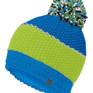 Karpos ROZES čiapka s brnbolcom modrá/svetlozelená