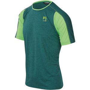 Karpos RAVALLES tričko modrozelené/zelené fluo