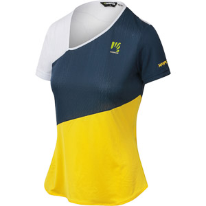 Karpos CIMA UNDICI dámske tričko žlté/modré/biele