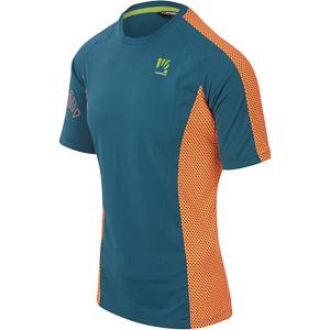 Karpos SASSONGHER tričko modrozelené/oranžové fluo