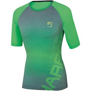Karpos MOVED EVO tričko zelené fluo/modrozelené