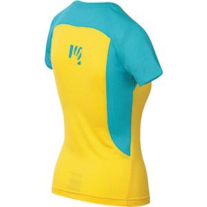 Karpos GIRALBA dámske tričko žlté/tyrkysové