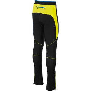 Karpos ALAGNA Evo nohavice čierne/žlté fluo/svetlomodré