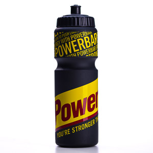 PowerBar Cycling Fľaša s veľkým logom, 750ml čierna