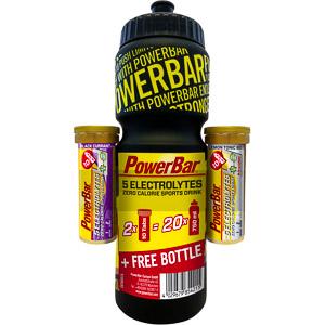 PowerBar 5 Elektrolytov 2x10 tabliet + fľaša zadarmo
