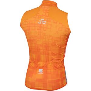 Sportful SAGAN LOGO BodyFit GORE WS vesta oranžová