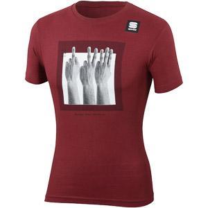 Sportful SAGAN FINGERS TEE tričko tmavočervené