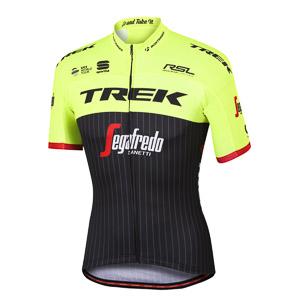 Trek-Segafredo BodyFit Pro Team dres čierny/fluo žltý
