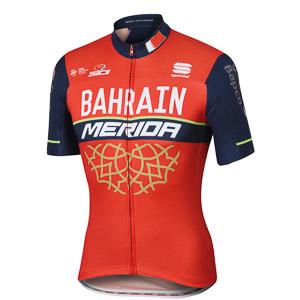 Bahrain Merida BodyFit Pro Team dres červená/modrá