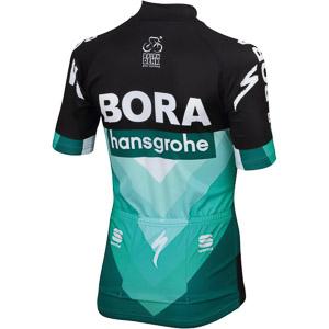Sportful Detský dres Bora-hansgrohe čierny/Bora zelený