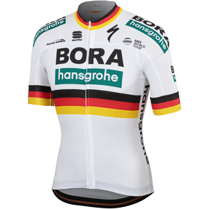 Sportful BODYFIT TEAM dres Bora-hansgrohe biely/trikolóra