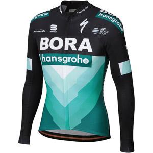 Sportful BODYFIT THERMAL dres s dlhým rukávom Bora-hansgrohe čierny/Bora zelený