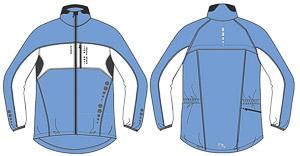 OneWay MIRA Dámska bunda, modrá/biela