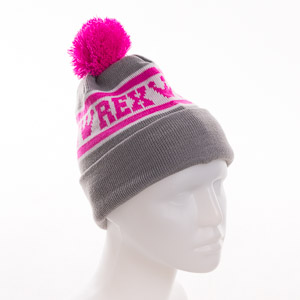 Rex čiapka sivá, ružová