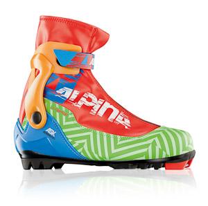 Alpina Topánky na bežky ASK červená/zelená/čierna