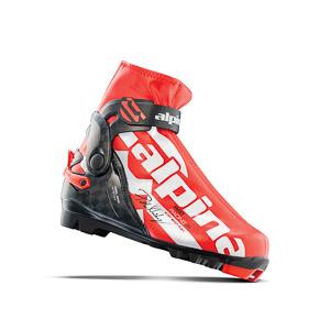Alpina Topánky na bežky R Combi JR červeno čierne biele