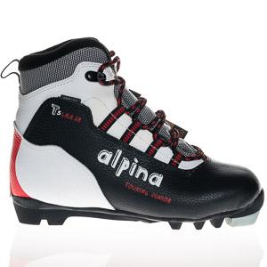 Alpina Topánky na bežky  T5 Laer JR čierno biele červené