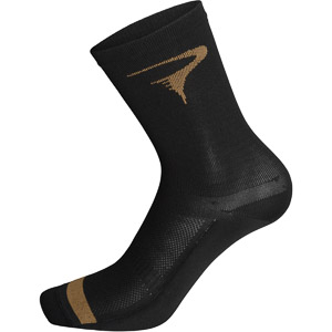 Pinarello ponožky LOGO T-writing čierne/hnedé