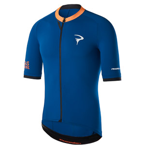 Pinarello ELITE dres T-writing  modrý/žltý