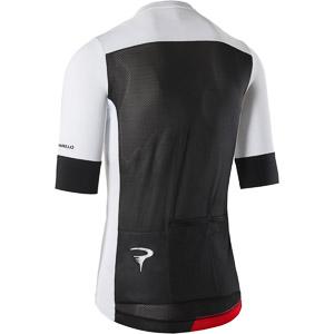 Pinarello FUSION dres Think Asymmetric biely/čierny/červený