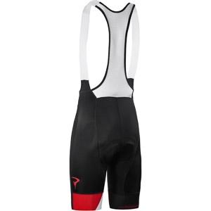 Pinarello FUSION kraťasy s trakmi Think Asymmetric čierne/biele/červené