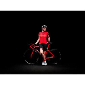 Pinarello FUSION dámsky dres Think Asymmetric červený/čierny