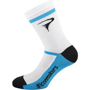 Pinarello Logo ponožky #iconmakers biele/modré