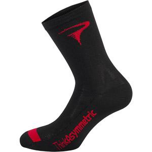 Pinarello Logo ponožky Think Asymmetric čierne/červené