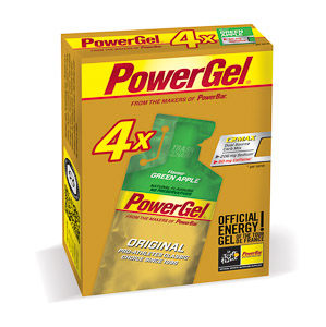 PowerBar PowerGel 41g Zelené jablko+Kofeín 3+1 zdarma