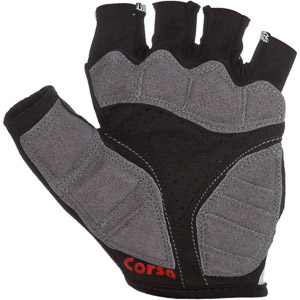 Pinarello CORSA krátke cyklo rukavice čierno-červené
